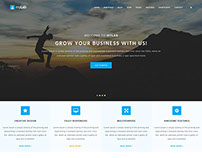 MyLab Responsive Template Free PSD.