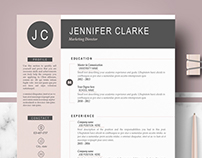 Professional & modern resume template - Jennifer
