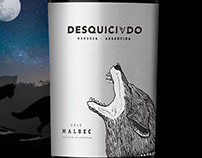 DESQUICIADO Malbec / Packaging