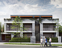 3D rendering. Atlanta house exterior project