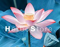 HerboStore. Web design - concept