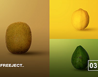 Free Fruit Pattern Background - kiwi, avocado & lemon