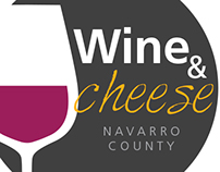 Wine and Cheese Event Logo