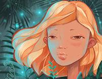 Girl in ferns
