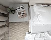 White apartment / Bedroom