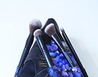 MIDNIGHT ORCHID: Makeup Brush Case for Rodial
