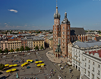 Old Town in Krakow from a bird's-eye view