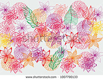 stock-vector-tropical-leaf-and-flower-graphic-design-ve