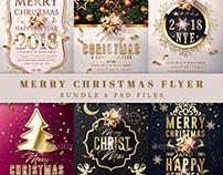 Merry Christmas Flyer Bundle