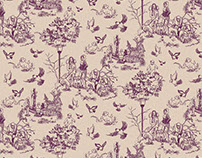Sunday Afternoon Toile Pattern Design