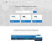 Vortex - Clean Hosting Landing Page