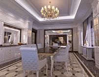 Living Room interior design in elegant Classic style