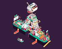 BASE A Isometric Illustration