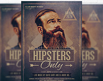 Hipsters Only - Flyer + Facebook Cover