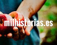 Rediseño de la plataforma milhistorias.es