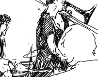 Christian Barthold | Jazz session speed drawings