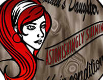 """""""The Captain's Daughter"""" women products logo"""