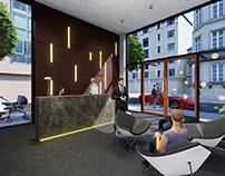 Residential Building Lobby Design