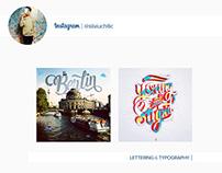 INSTAGRAM | lettering & typography