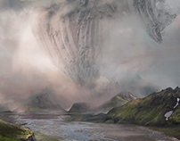Land fall | Matte Painting