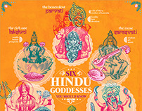 Six Hindu Goddesses