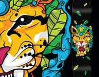Jaguatirica Skateboard Art