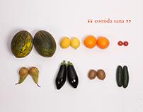 """Comida sana"". Poster"