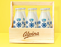 Leches Alpina en botella