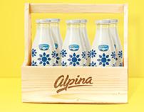Leches Alpina en botella
