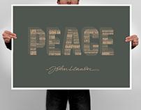 John Lennon Typography Poster