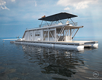 "Project of HydroHouse for a pilot of Hydroplane ""HH"""