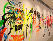 Live artwork mural, Boutique Boulevard