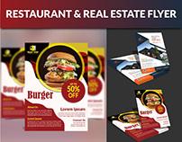 Restaurant & Real Estate Flyer Design