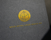 Gold Metal Logo Mock-Up