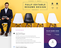 Fully Editable Creative Resume Template - Free