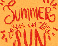 Summer Lettering Series