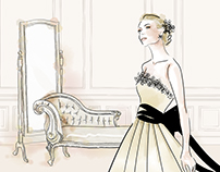 Bride Fashion Illustration