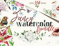 Fancy Watercolor Bundle