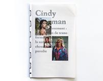 Cindy Sherman, ou le travestissement photographique