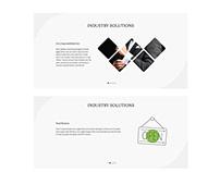 Website redesign - first draft