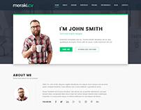 Meraki - One Page HTML Resume Template