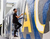 Embrace Mural & Font