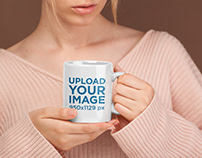 Coffee Mug Mockup Surrounded by Neutral Colors