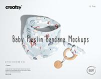 Baby Muslin Bandana Mockup Set