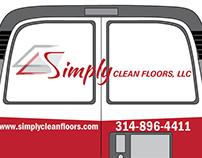 Simply Clean Floors Vehicle Wrap