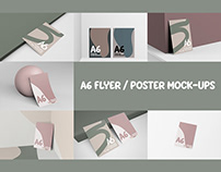 A6 FLYER / POSCARD MOCKUPS