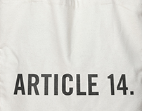 Article 14 UDHR tote bag