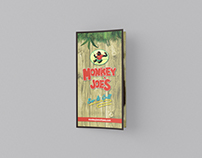 Monkey Joe's Restaurant Menu Rebranding