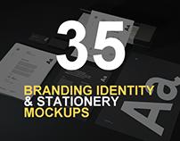 35+ Impressive Branding Identity Stationery PSD Mockups