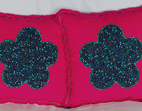 Flower cushions handmade